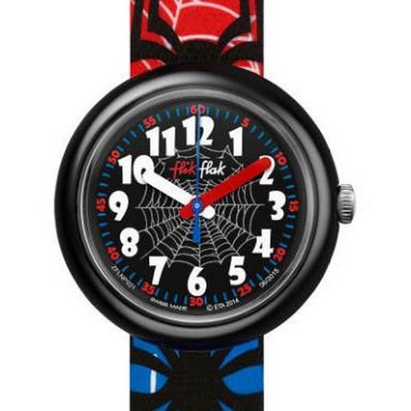 Montre flik flak flnp021 spiderman joly montres for Spiderman watches