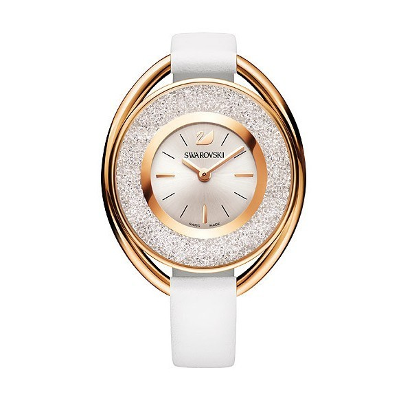 Crystalline Oval White Tone Watch 5230946 - Joly-Montres 5860277385fb