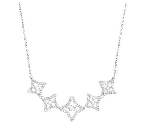 COLLIER SPARKLING DANCE STAR, MEDIUM, BLANC