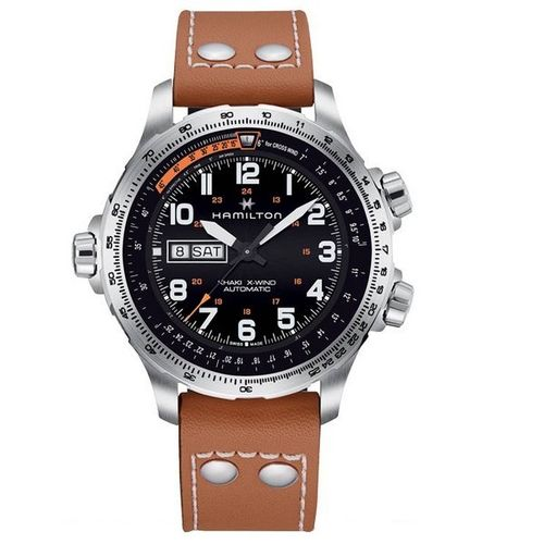 MONTRE HAMILTON KHAKI AVIATION X-WIND DAY DATE