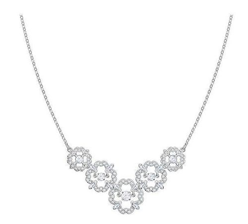 COLLIER SPARKLING DANCE FLOWER, MEDIUM, BLANC