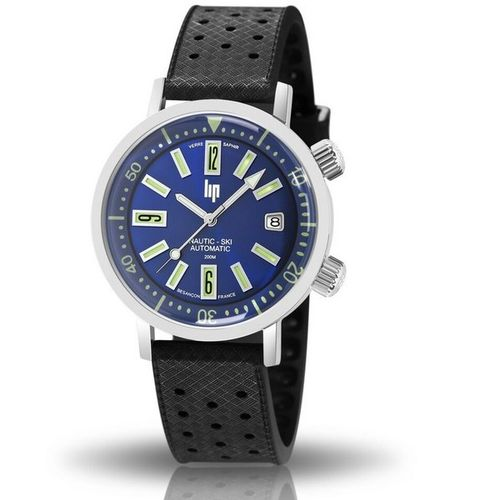 MONTRE LIP NAUTIC SKI AUTOMATIQUE BLEUE SAPHIR