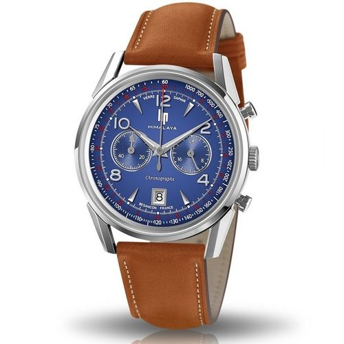 MONTRE LIP HIMALAYA 40 MM CHRONOGRAPHE SAPHIR