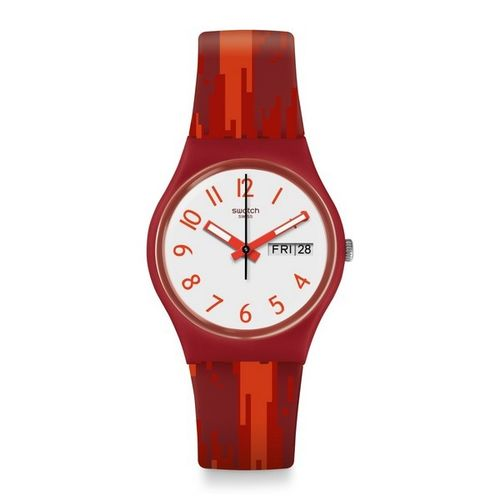 MONTRE SWATCH RED FLAME