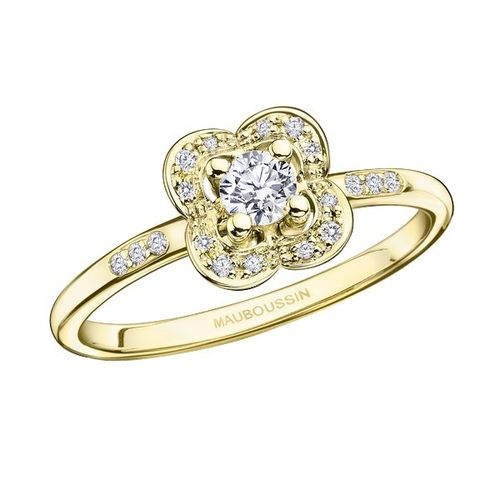 BAGUE CHANCE SUPER ONE, OR JAUNE ET DIAMANTS