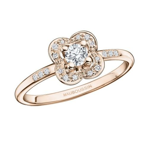 BAGUE CHANCE SUPER ONE, OR ROSE ET DIAMANTS