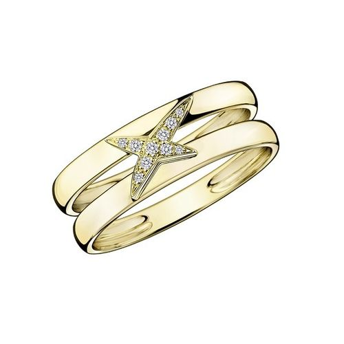 BAGUE ÉTOILEMENT DIVINE, OR JAUNE ET DIAMANTS
