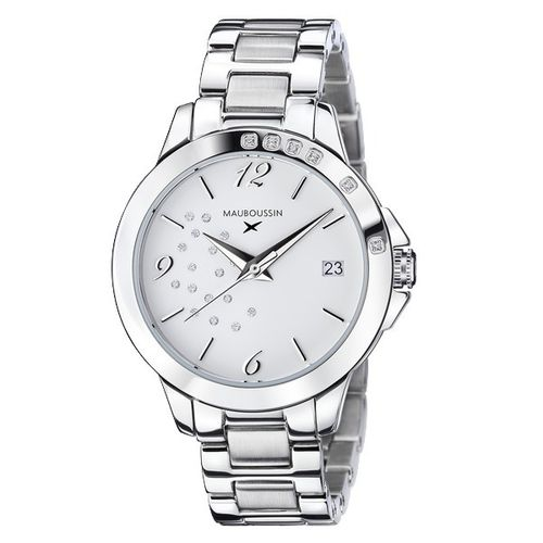 MONTRE FEMME SO URGENT, CADRAN BLANC ET DIAMANTS